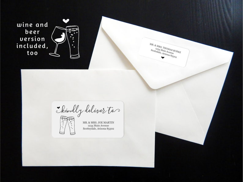 Printable Address Template Envelope Labels Avery 2x4 1x2-5/8 image 0