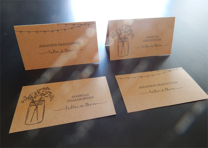 Wedding Place Card Printable  Placecard Template Download  image 0
