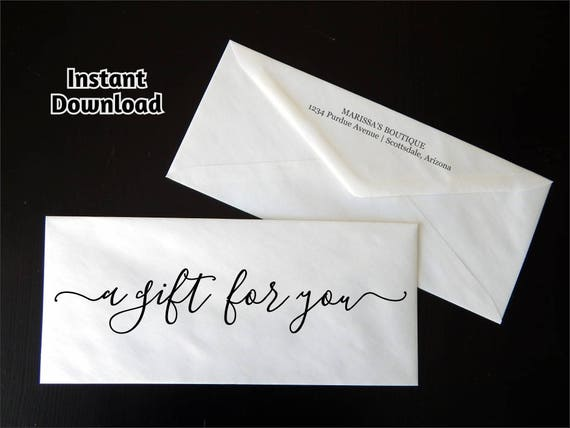 Gift Certificate Envelope Template Printable Business