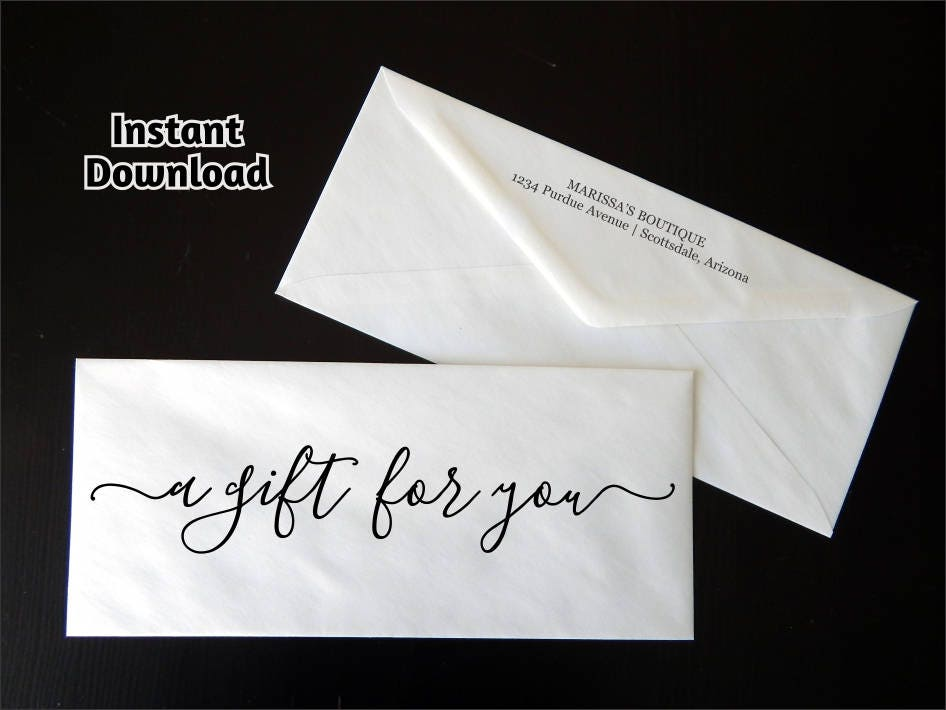 gift certificate envelope template printable business envelope