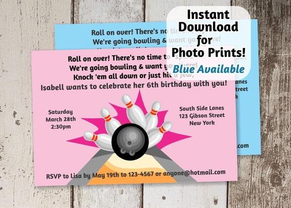 Bolos De Invitación Para Fiesta De Cumpleaños Chicas Rosa Azul Descargar Archivo Digital Instantánea Boys Invite Para Impresiones De Fotos O