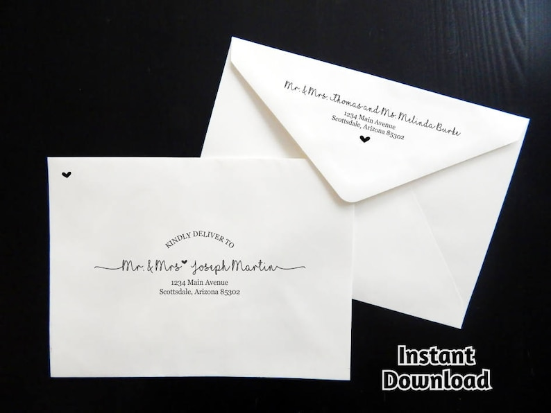 Wedding Envelope Template  Printable Envelope Address image 0