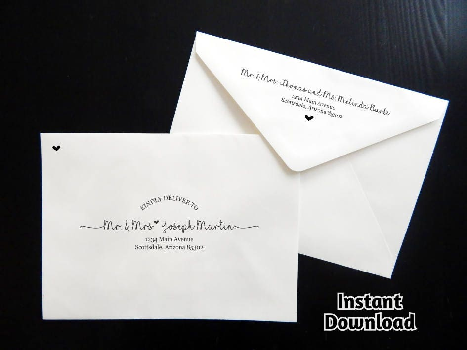 Adorable image with regard to printable envelope address template