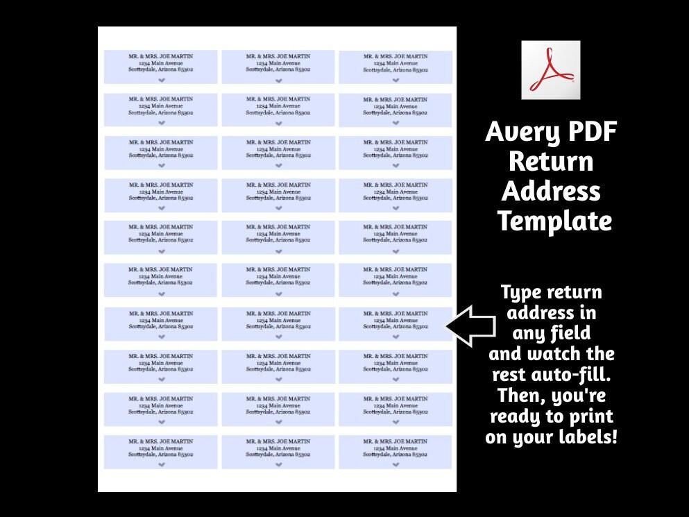 printable address template