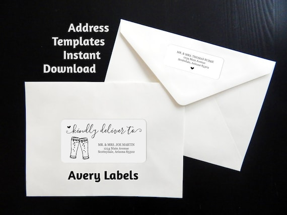 printable address template envelope labels avery 2x4 etsy