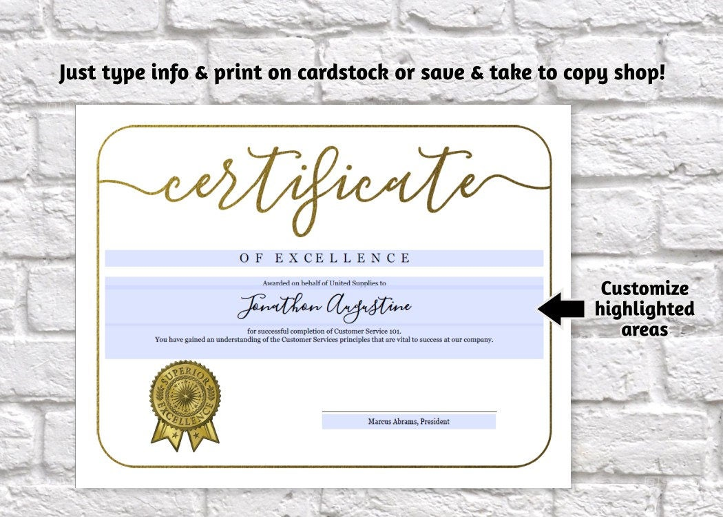 certificate template printable award certificate simple design