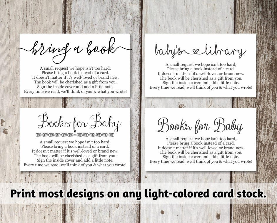 Printable baby shower book request bring a book instead of a card printable baby shower book request bring a book instead of a card rustic wood instant download avery business card template 8871 friedricerecipe Images