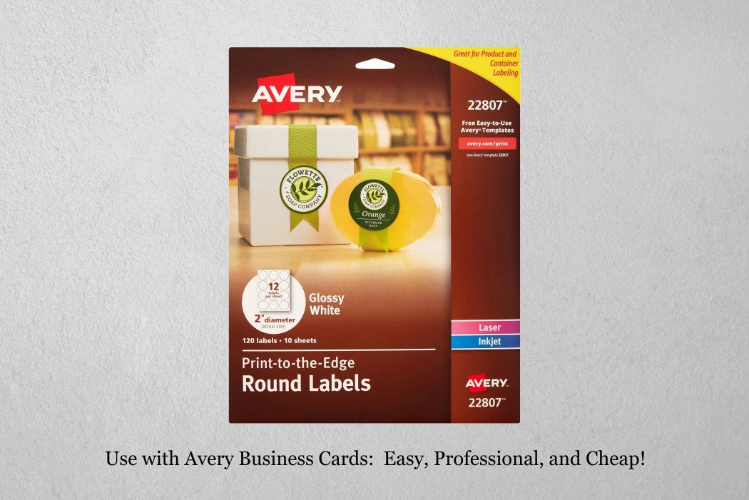 business sticker template avery 22807