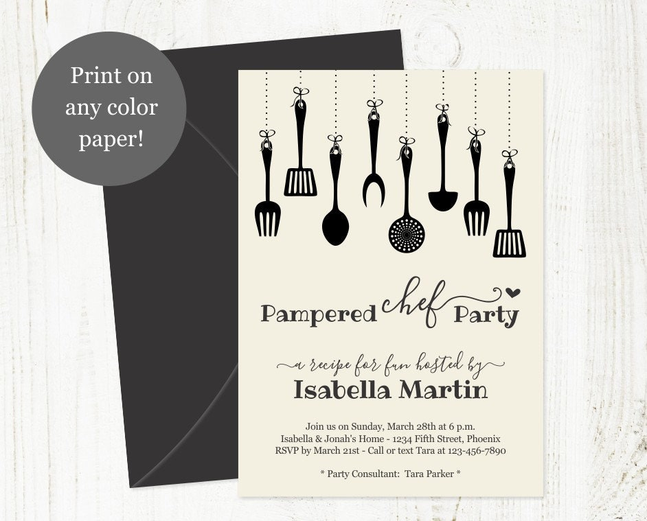 pampered chef party invitation template