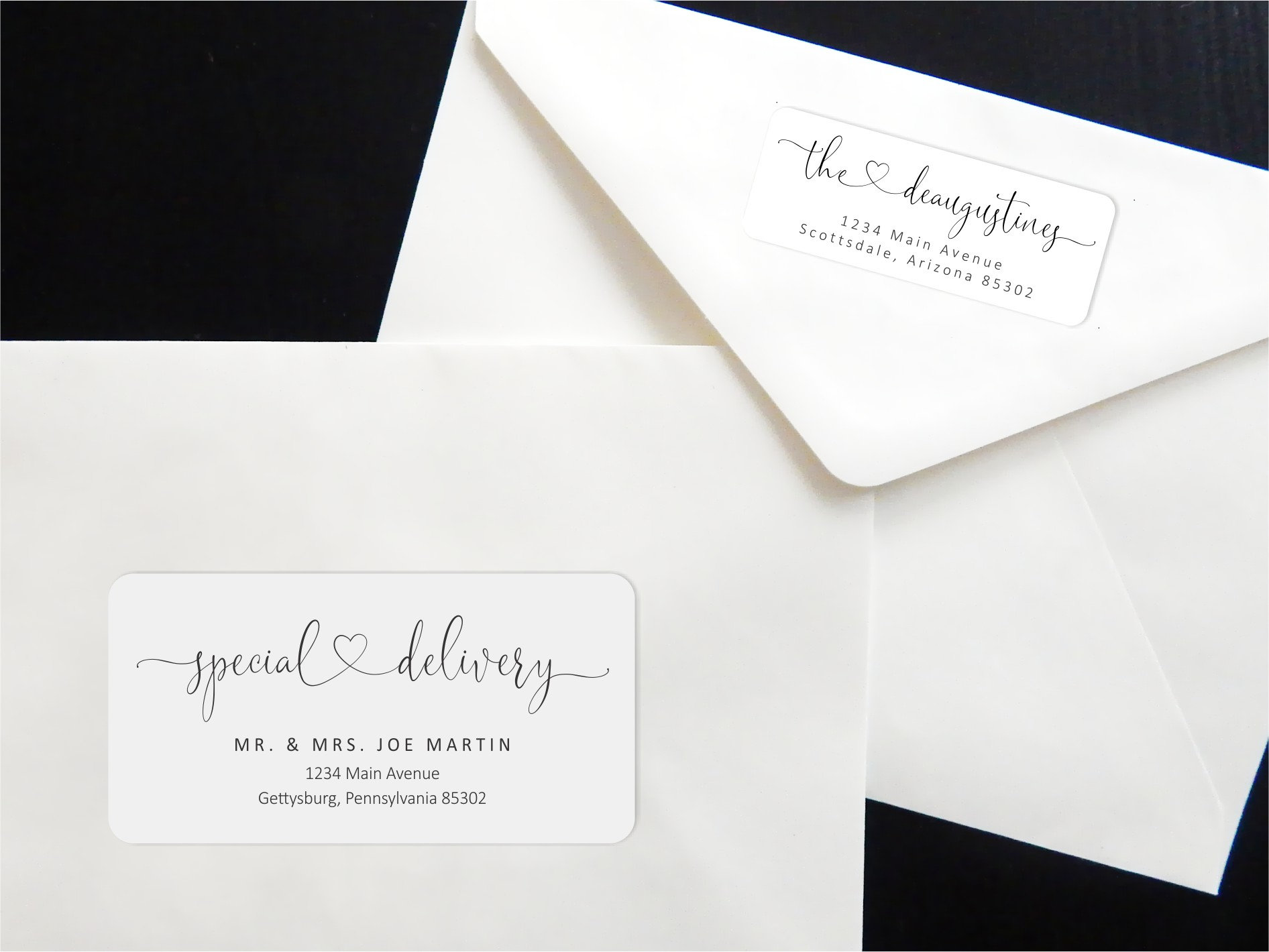 address template for envelope labels