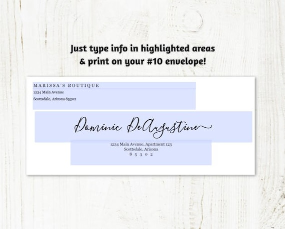 Template For #10 Envelope from i.etsystatic.com