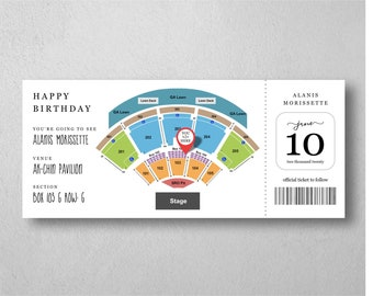 Concert Ticket Gift - Editable Surprise Concert Ticket Template - Microsoft Word Doc - Printable Customizable Instant Download Digital File