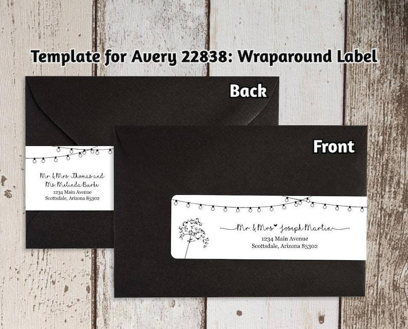 Printable Address Template for Envelope Wraparound Labels  image 0