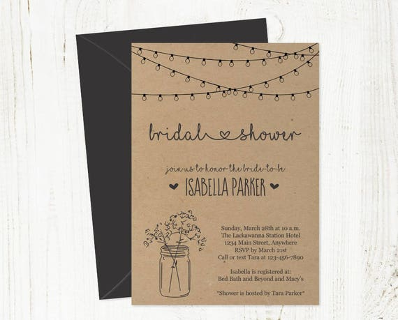 It's just an image of Printable Bridal Shower Invitations intended for cute