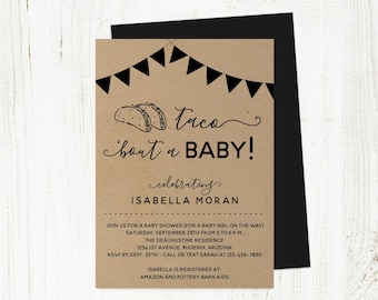Taco Bout a Baby Shower Invitation Template, Printable Fiesta Invite Instant Download Digital File DIY PDF Gender Neutral Girl Boy Couple's