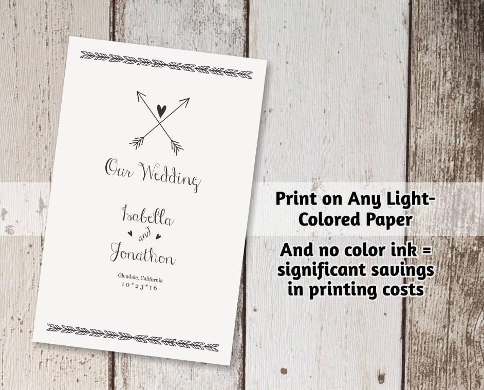 printable wedding ceremony book template