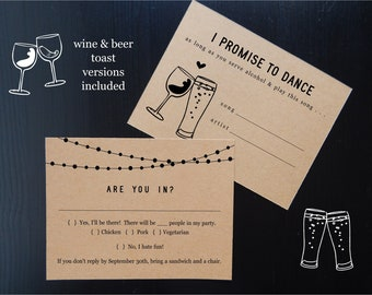 Funny Song Request RSVP Card Template, Printable Fun Brewery Winery Wedding Invitation Insert Enclosure, Instant Download Digital File DIY