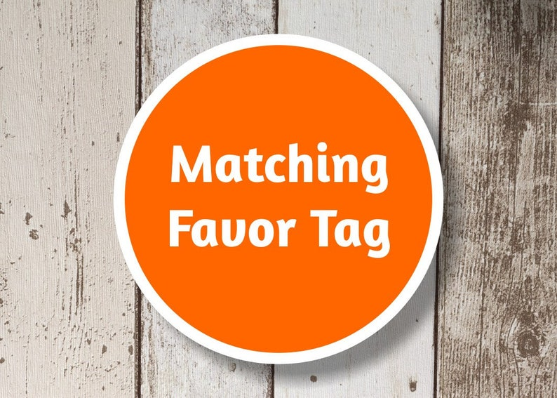 Favor Tag Add On  Get a matching Favor Tag for your Instant image 0