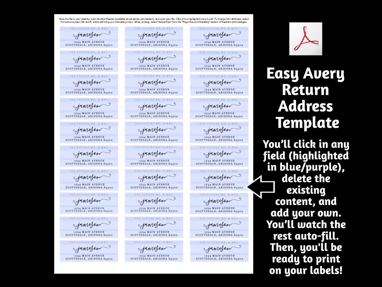Future Mr Mrs Return Address Label Template Printable