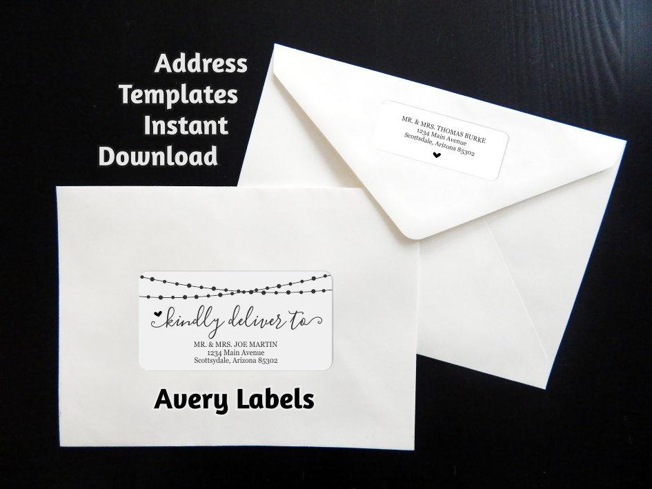 printable address template envelope labels avery 2x4 1x2 58 string light wedding christmas etc instant download digital file pdf