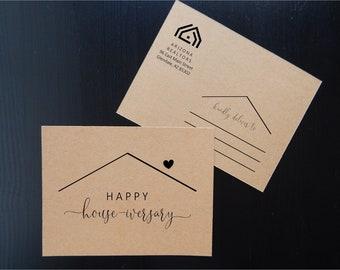 Editable Happy Housiversary Postcard Template, Printable House-iversary Add Logo, New Home Anniversary, Realtor Real Estate Agent Download