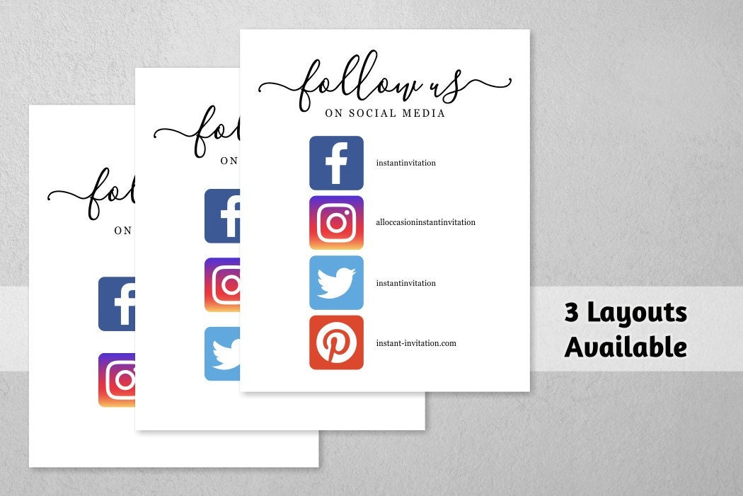 Business social media sign with icons printable template follow gallery photo gallery photo gallery photo gallery photo cheaphphosting Images