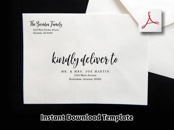 Printable Envelope Template Editable Template templett instant download GRANDE Rust A7 Guest Address Envelope Template