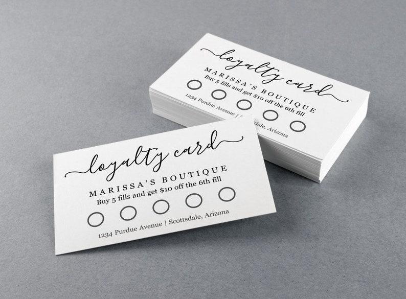 Printable Loyalty Card Template Simple Reward Punch Card