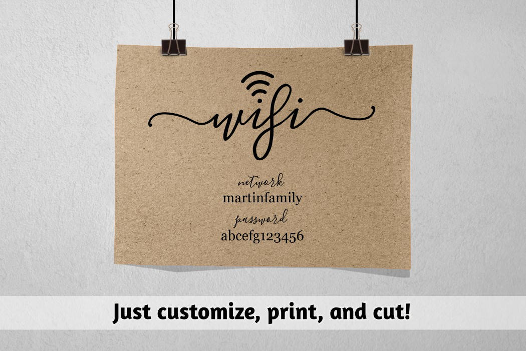 graphic about Wifi Password Sign Printable named Wifi Pword Printable Template - Wifi Pword Signal