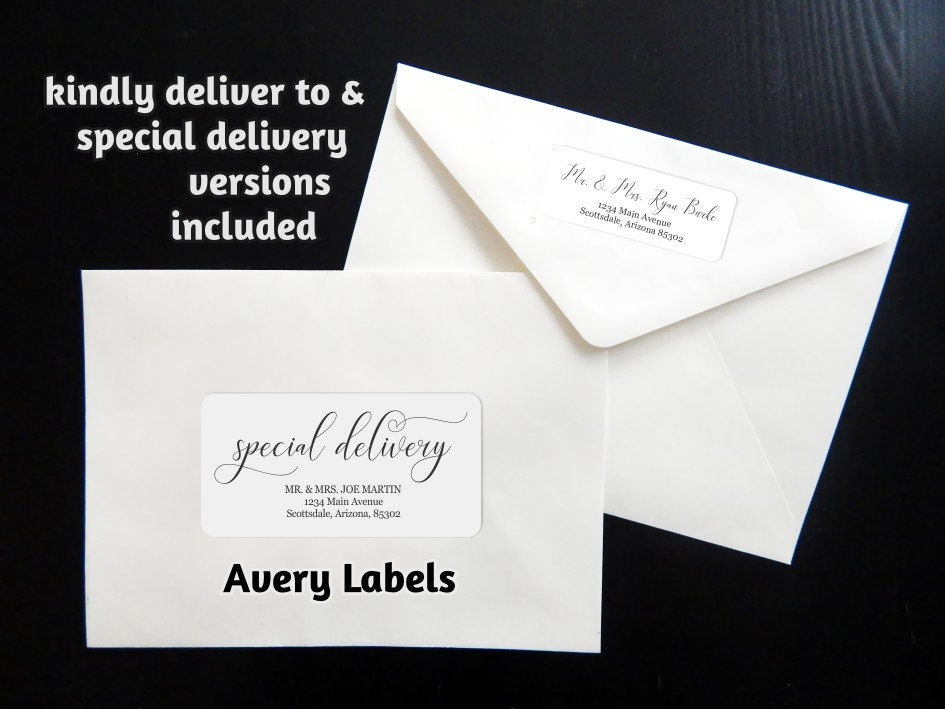 printable calligraphy address template envelope label