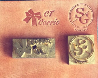 Wood stamp screw handle stamp Leather logo hot screw soap stamp Custom leather stamp leather model tool emboss die