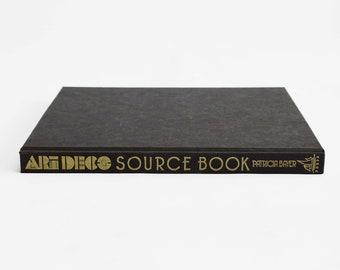 Art Deco Source Book   Vintage Interior Decor Book   Vintage Coffee Table Book   Interior Design Book   Hardcover Coffee Table Book