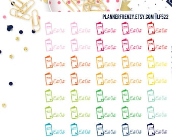50 Small Eat Out Planner Stickers! LF522