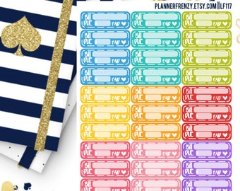 33 Bill Due Planner Stickers! LF117