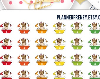 70 Small Dog Grooming Planner Stickers! DC112