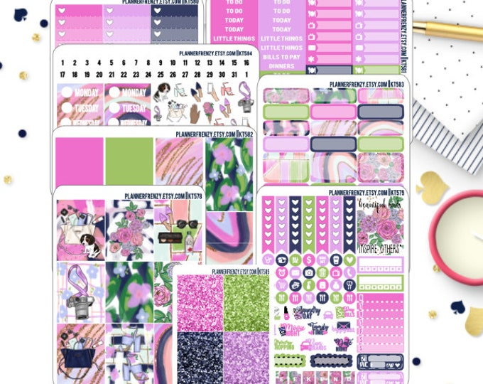 KT578 KT584-KT585 Beautiful Mind  Blogger Collection Deluxe or Full Kit Planner Stickers KT583
