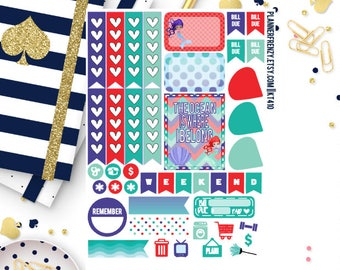 Mermaid Collection Sampler Planner Stickers! KT410