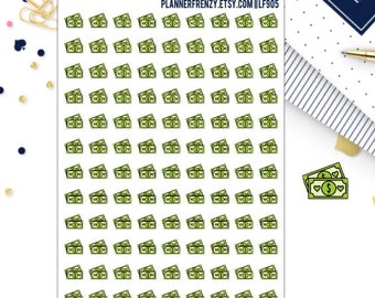 108 Mini Doodle Money / Payday Planner Stickers! LF905