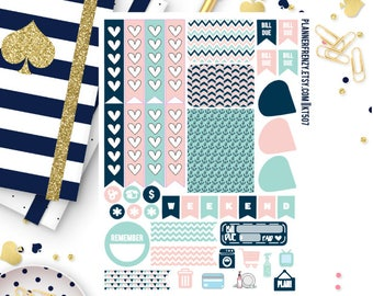 Anchors Away Collection Sampler Planner Stickers! KT507