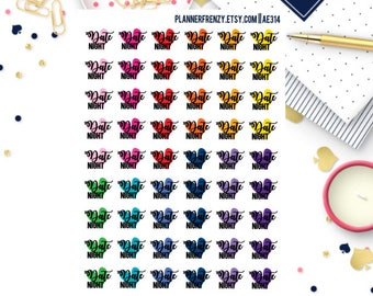 54 Date Night Planner Stickers! AE314