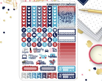 4th of July Collection Sampler Planner Stickers! HS602