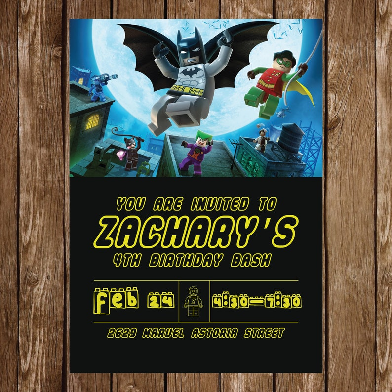 Lego Batman Birthday Invitation