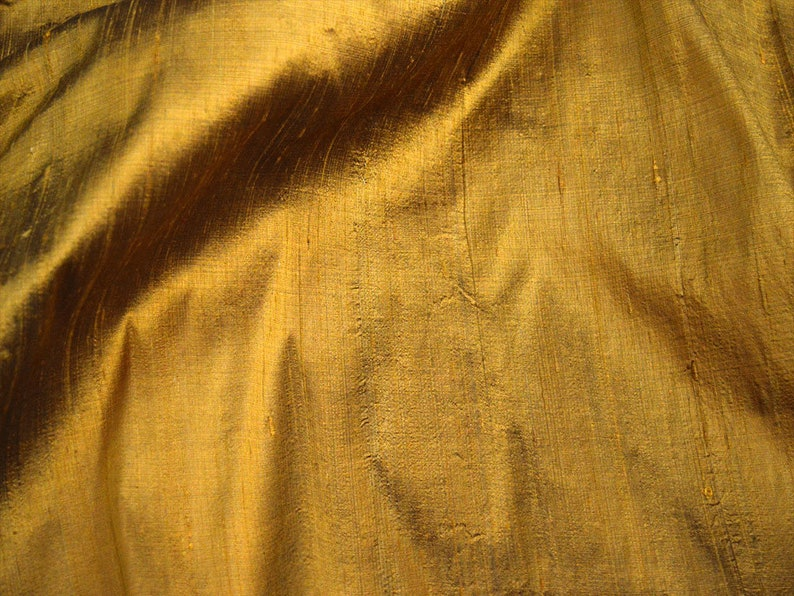 Iridescent Pure Dupioni silk fabric by Yard Mustard Yellow Wedding Dress Bridesmaid Prom Dresses Indian Raw Silk Dupion Crafting Sewing