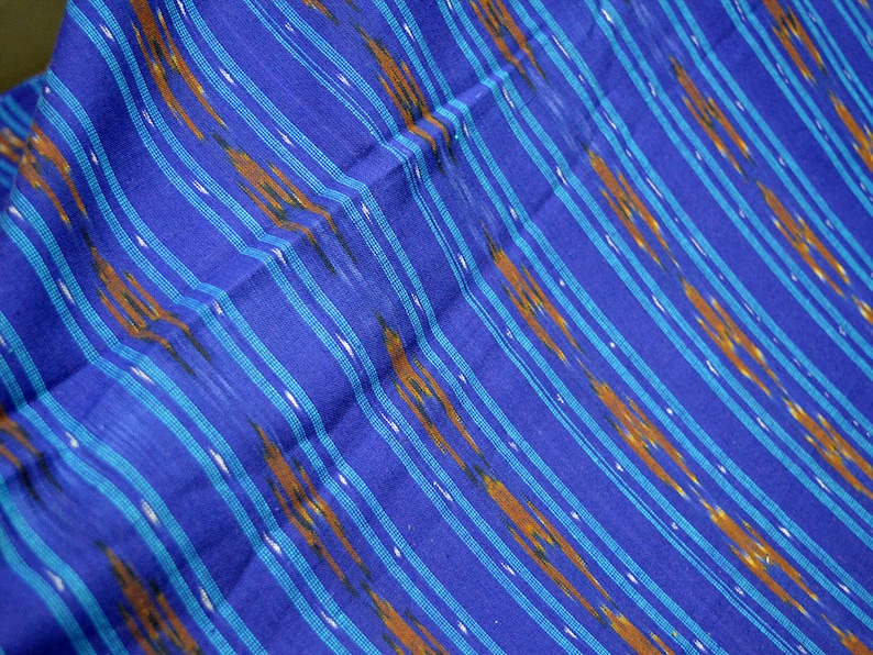 Blue Ikat Fabric by yard Ikat Upholstery Fabric Ikat for cushion cover Handwoven Ikat Handloom Ikat Fabric Home Furnishing ikat fabric