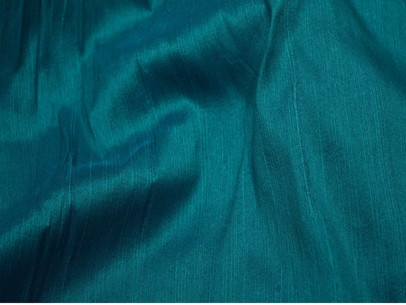 Indian Poly Dupion Fabric Crafting Teal Dupioni Fabric by the Yard Wedding Bridesmaid Prom Dresses Sewing Costumes Cushion Covers Drapes