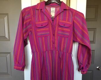 1980's Petite Vintage Shirtwaist Dress