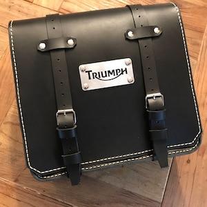 Total black color. BMW r 1150 GS leather bag