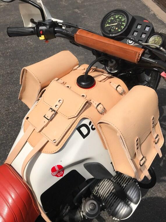 Bmw R80 G S R80 G S Paris Dakar Leather Tank Bags With Etsy
