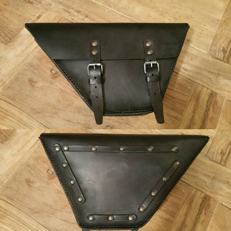 Moto Guzzi V35 V65 bag Leterale right black leather cafe racer Special Scrambler