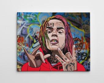 "16x20/"" Gallery Art Canvas xxxtentacion Studio Album Memorial Artwork Rap Hip Hop"